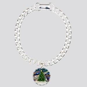 Xmas Magic/Boston Terrier Charm Bracelet, One Char