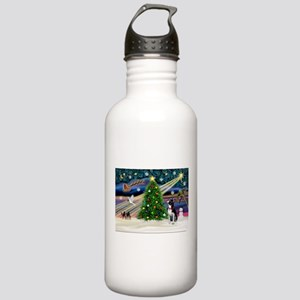 Xmas Magic/Boston Terrier Stainless Water Bottle 1