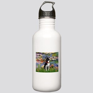 Lilies /Boston Terrier Stainless Water Bottle 1.0L