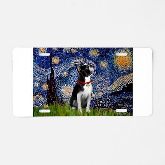 Starry Night & Boston Aluminum License Plate