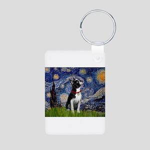 Starry Night & Boston Aluminum Photo Keychain