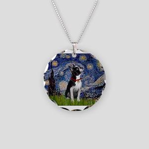 Starry Night & Boston Necklace Circle Charm