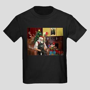 Santa's Bouvier Kids Dark T-Shirt