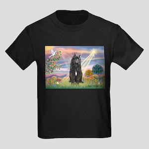 Cloud Angel & Bouvier Kids Dark T-Shirt
