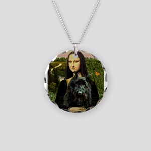 Mona / Bouvier Necklace Circle Charm