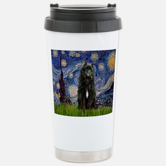 Starry Night Bouvier Stainless Steel Travel Mug