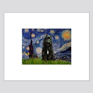 Starry Night Bouvier Small Poster