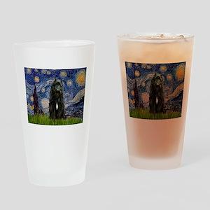 Starry Night Bouvier Drinking Glass