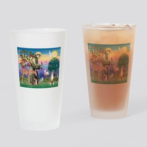 Saint Francis /Boxer Drinking Glass