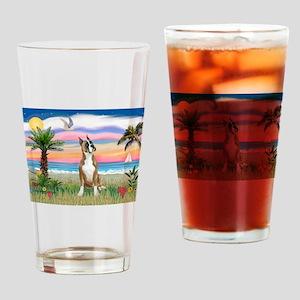 Palm Beach / Boxer Drinking Glass