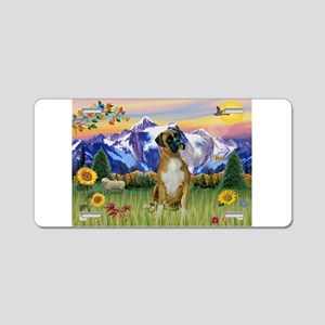 Boxer/Mountain Country Aluminum License Plate