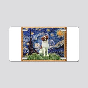 Starry Night/Brittany Aluminum License Plate