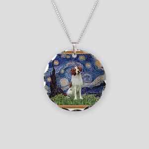 Starry Night/Brittany Necklace Circle Charm
