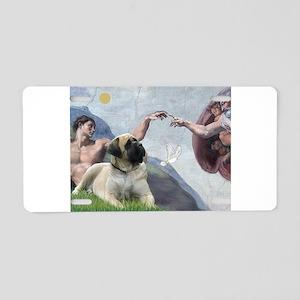 Creation/ Bull Mastiff Aluminum License Plate