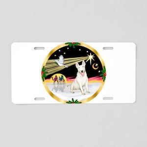 XmasDove/Bull Terrier Aluminum License Plate