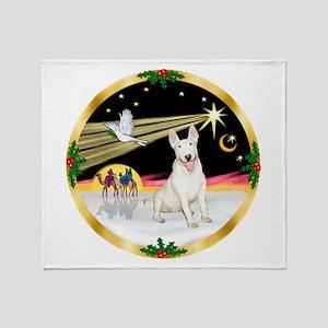 XmasDove/Bull Terrier Throw Blanket