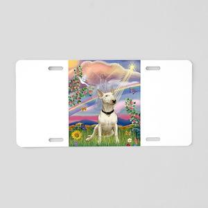 Cloud Angel/Bull Terrier Aluminum License Plate