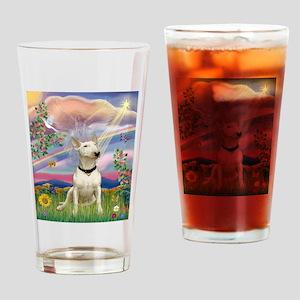 Cloud Angel/Bull Terrier Drinking Glass