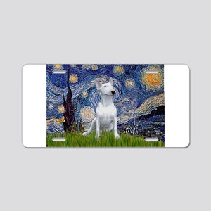 Starry Night/Bull Terrier Aluminum License Plate
