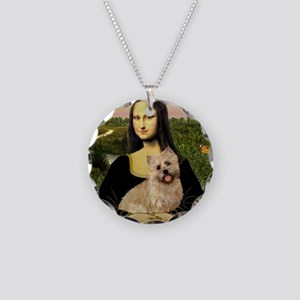 Mona/Cairn Terrier Necklace Circle Charm