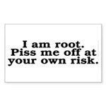 I am root Sticker (Rectangle)