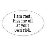 I am root Sticker (Oval 10 pk)