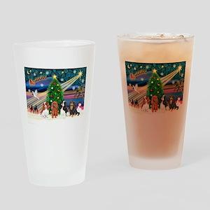 XmasMagic/4 Cavaliers Drinking Glass