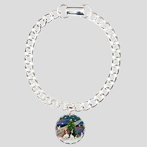 XmasMagic/2 Cavaliers Charm Bracelet, One Charm