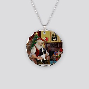 Santa's Tri Cavalier Necklace Circle Charm