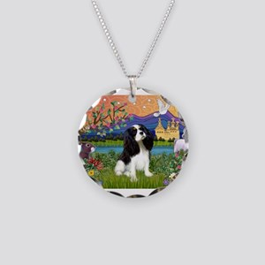 Tri Cavalier Fantasy Necklace Circle Charm