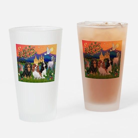FANTASY / 3 Cavaliers Drinking Glass