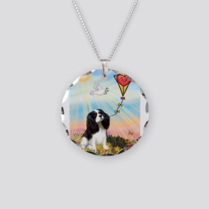 Tri Cavalier & Kite Necklace Circle Charm