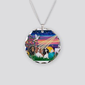 Magical Night/3 Cavaliers Necklace Circle Charm