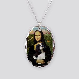 Mona's Tri Cavalier Necklace Oval Charm