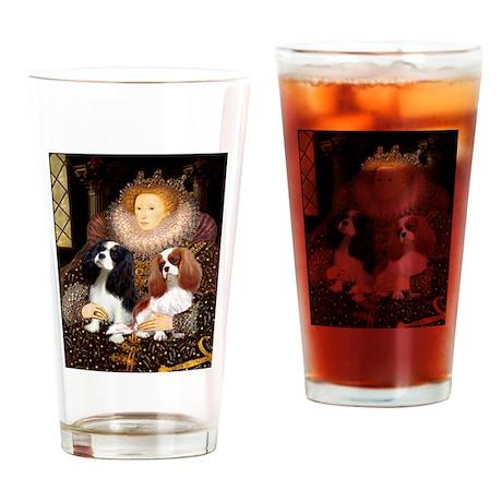 Queen & Cavalier Pair Drinking Glass