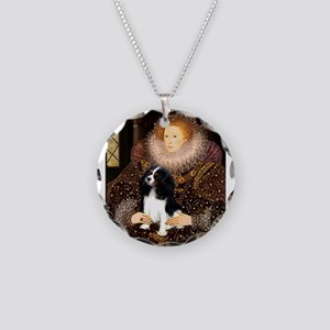 Queen & Tri Cavalier Necklace Circle Charm