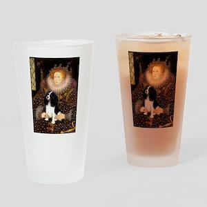 Queen & Tri Cavalier Drinking Glass