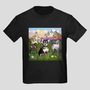 Castle & Chihuahua (BT) Kids Dark T-Shirt