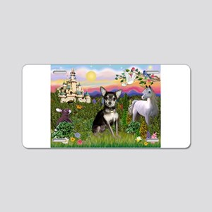 Castle & Chihuahua (BT) Aluminum License Plate