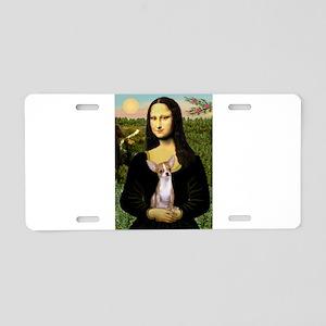 Mona Lisa's Chihuahua Aluminum License Plate