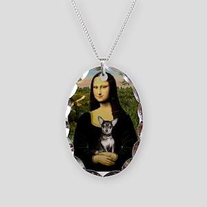 Mona's Chihuahua (BT) Necklace Oval Charm