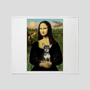 Mona's Chihuahua (BT) Throw Blanket