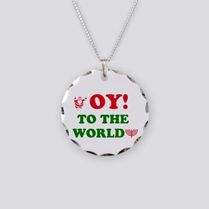 Oy to the World! Necklace Circle Charm