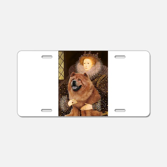 Queen/Chow Chow Aluminum License Plate