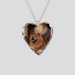 Queen/Chow Chow Necklace Heart Charm
