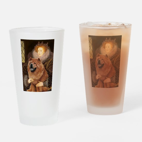 Queen/Chow Chow Drinking Glass