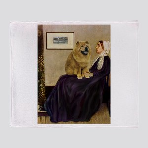 Whistler's/Chow Chow Throw Blanket