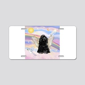 Cocker Angel in Clouds Aluminum License Plate