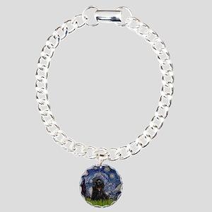 Starry/Cocker (blk) Charm Bracelet, One Charm