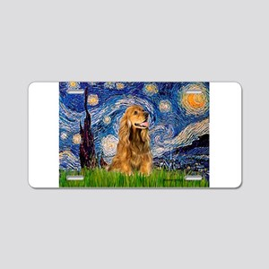 Starry Night/Cocker(#7) Aluminum License Plate